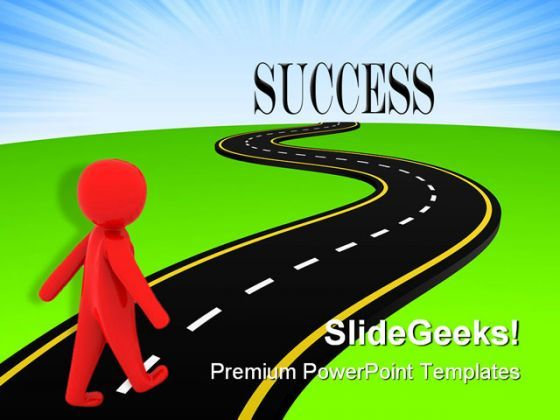 Images Of Road To Success Road To Success Metaphor Powerpoint