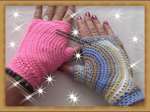 baş parmaktan zinciri halka haline getirerek başladığımız bu güzel ve farklı eldivenimizi sizlere anlatmak güzeldi, sizlerde inşallah beğenerek yaparsınız, b... #gloves