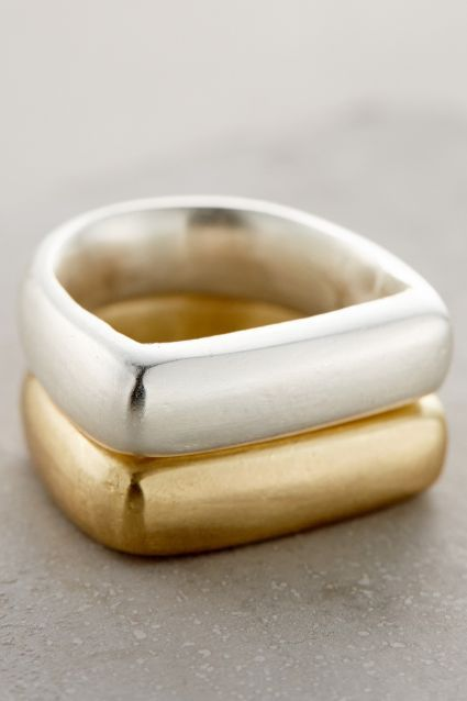 Brass Stacking Rings - anthropologie.com