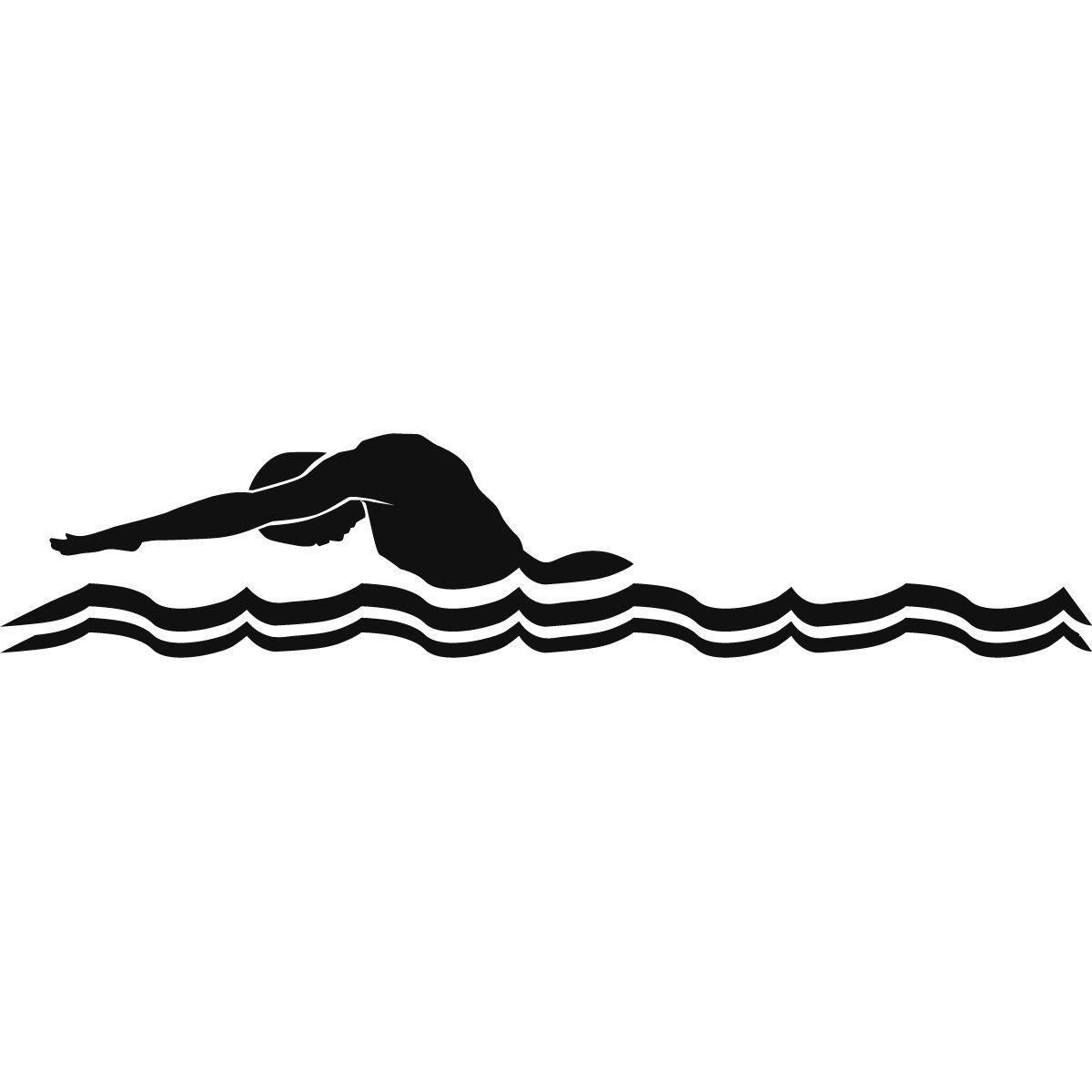 clip art male swimmer butterfly stroke green swimming [ 1200 x 1200 Pixel ]