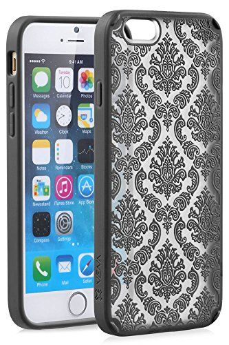"iPhone 6 Case - VENA [TACT ARMOR] Shock Absorbent Cover Slim Hybrid Armor Case for Apple iPhone 6 (4.7"") - Damask / Black Vena http://www.amazon.com/dp/B00Q6XWL6G/ref=cm_sw_r_pi_dp_lPPKvb1YRTN9Y"