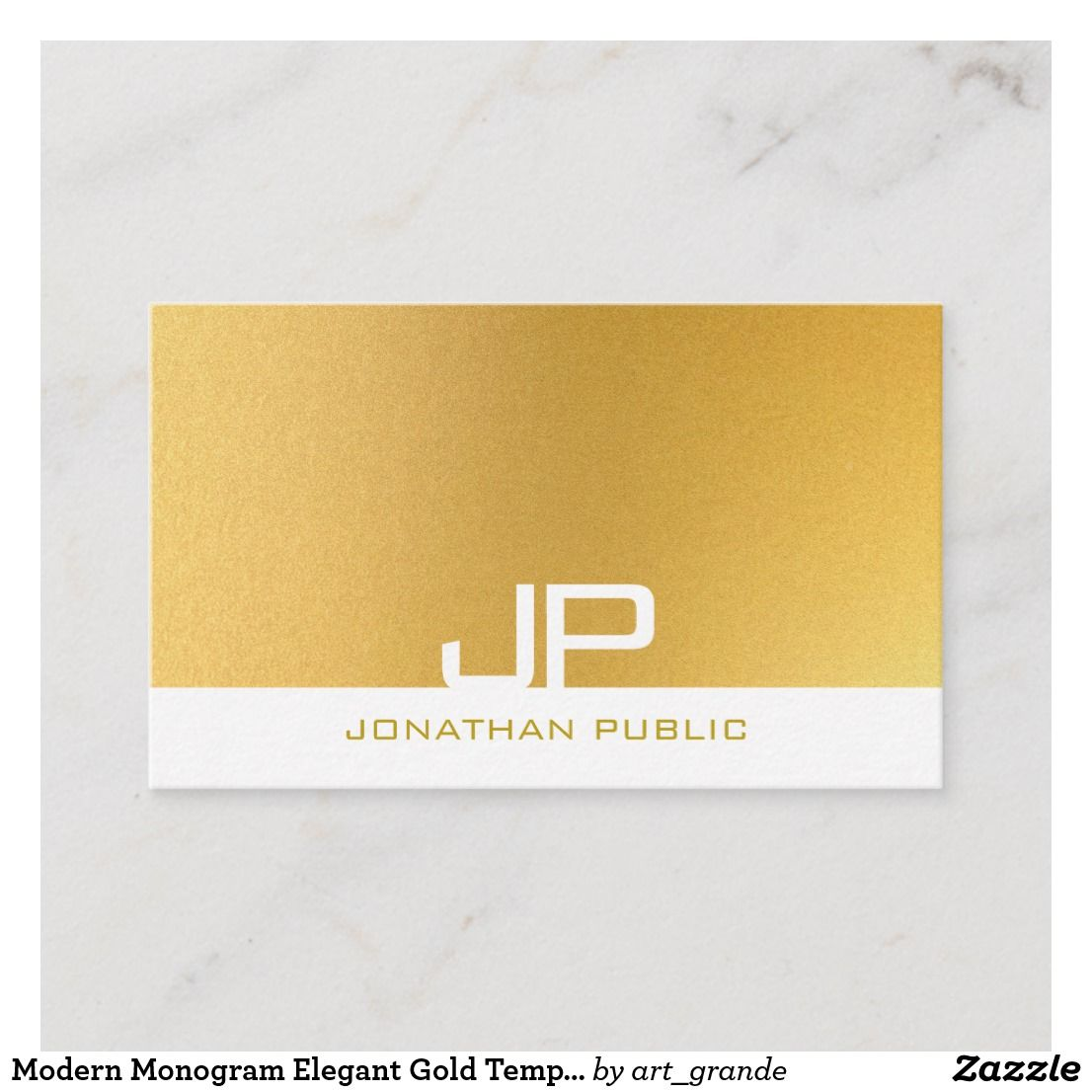 Modern Monogram Elegant Gold Template Professional Business