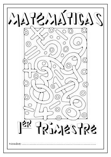 Portadas trabajos matematiques Pinterest Portadas para