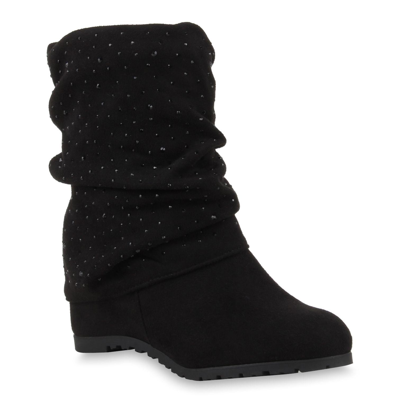 Damen Stiefeletten Keilstiefeletten Schwarz | shoes (๑╹_