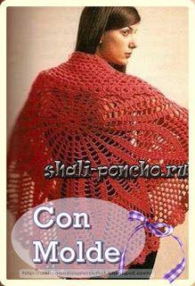 Delicadezas en crochet Gabriela: Chal circular