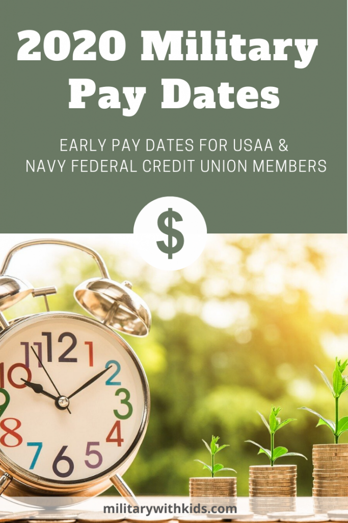 2020 Military Pay Dates Early Pay Usaa Nfcu Military Pay Navy Federal Credit Union Family Finance