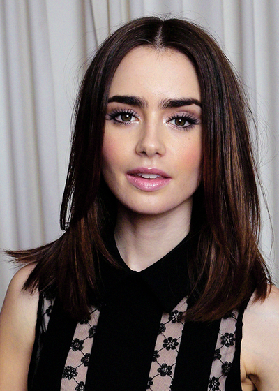lilly collins; great hair