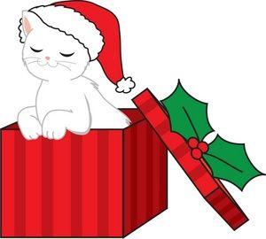 christmas cat clipart christmas clip art images christmas stock rh pinterest com cute christmas clipart free cute christmas clipart black and white