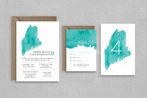 Save the Date Postcard  Stripes  Horizontal  Custom Colors  4x6 5x7  PDF Download