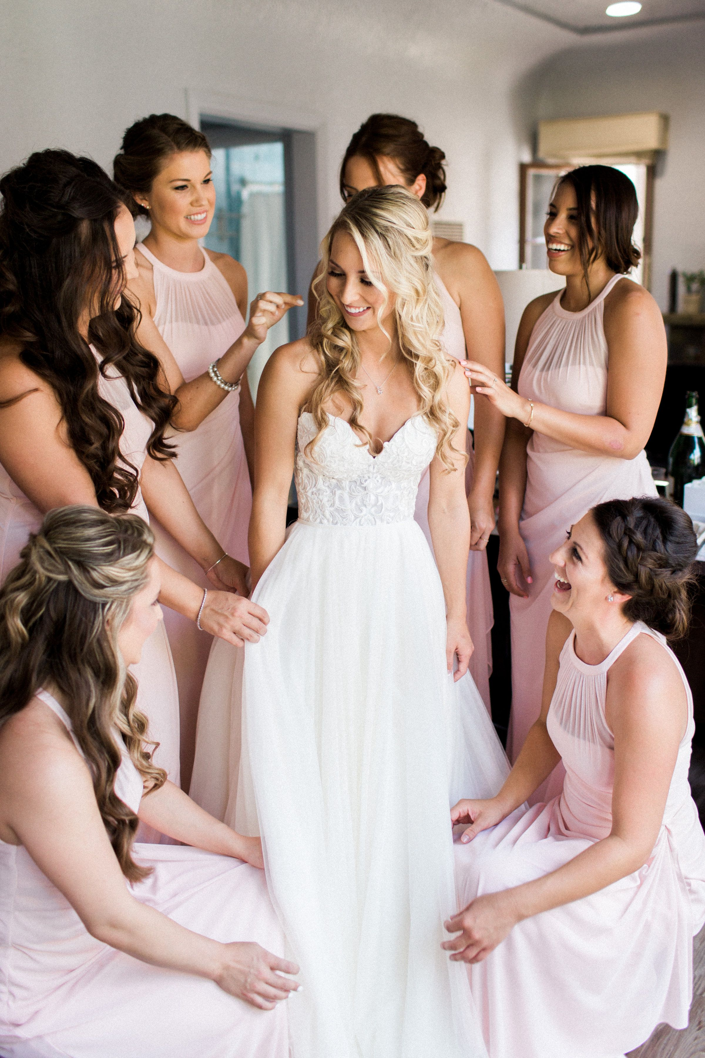 c7b9d1f9fec getting wedding ready with all your besties in matching dresses ...