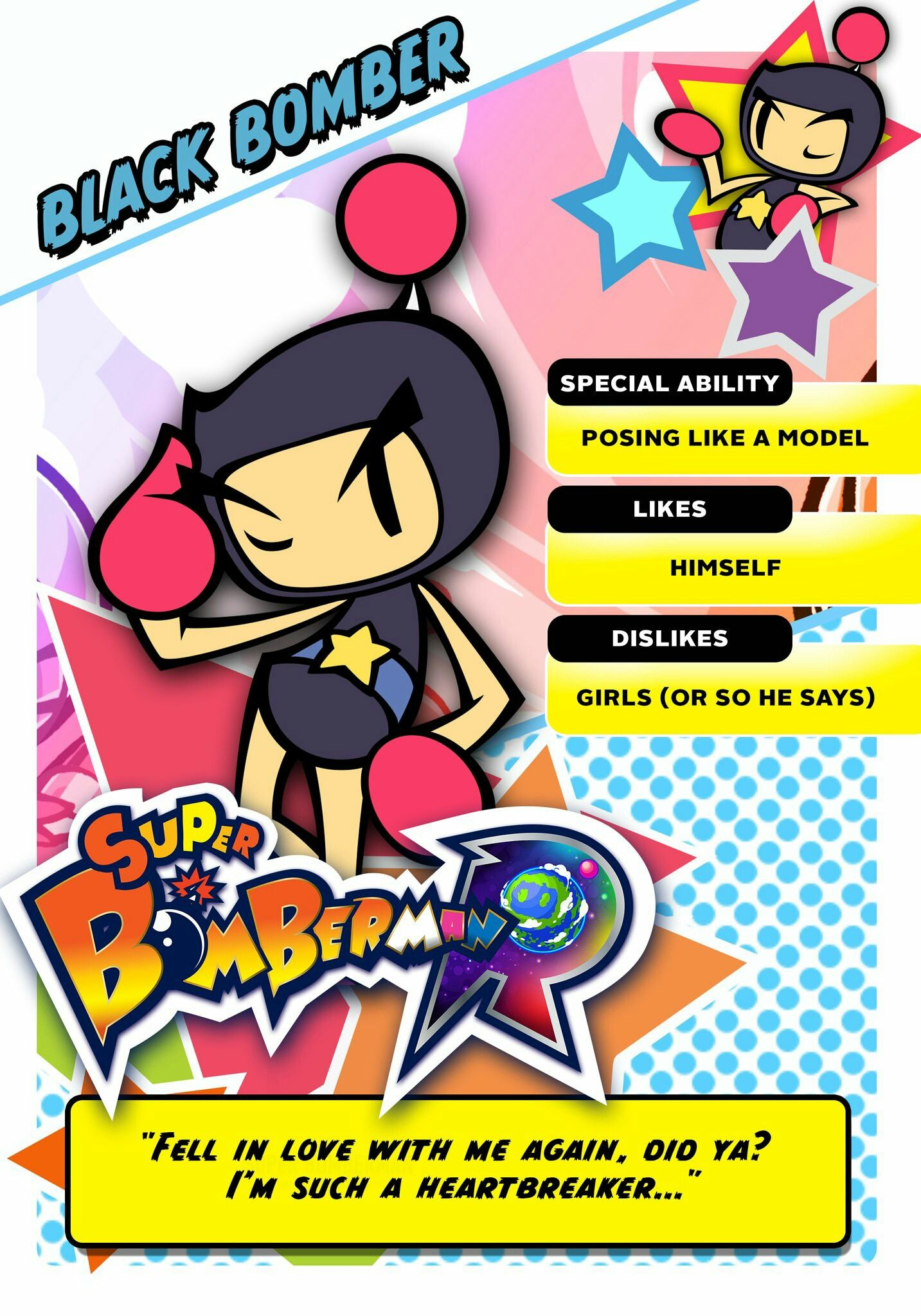 Super Bomberman R Black Bomber: Super Bomberman R Black Bomber