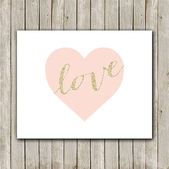 Heart Print 8x10 Instant Download Love by MossAndTwigPrints