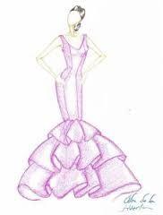 Vestidos de novia para dibujar faciles