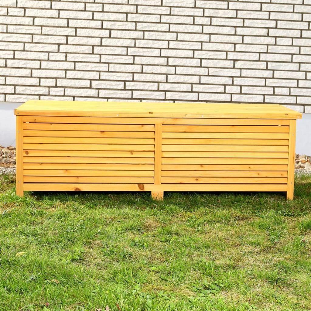 Xxl Holz Auflagenbox Gartentruhe Kissenbox 140 Cm Holztruhe Gartentruhe Auflagenbox