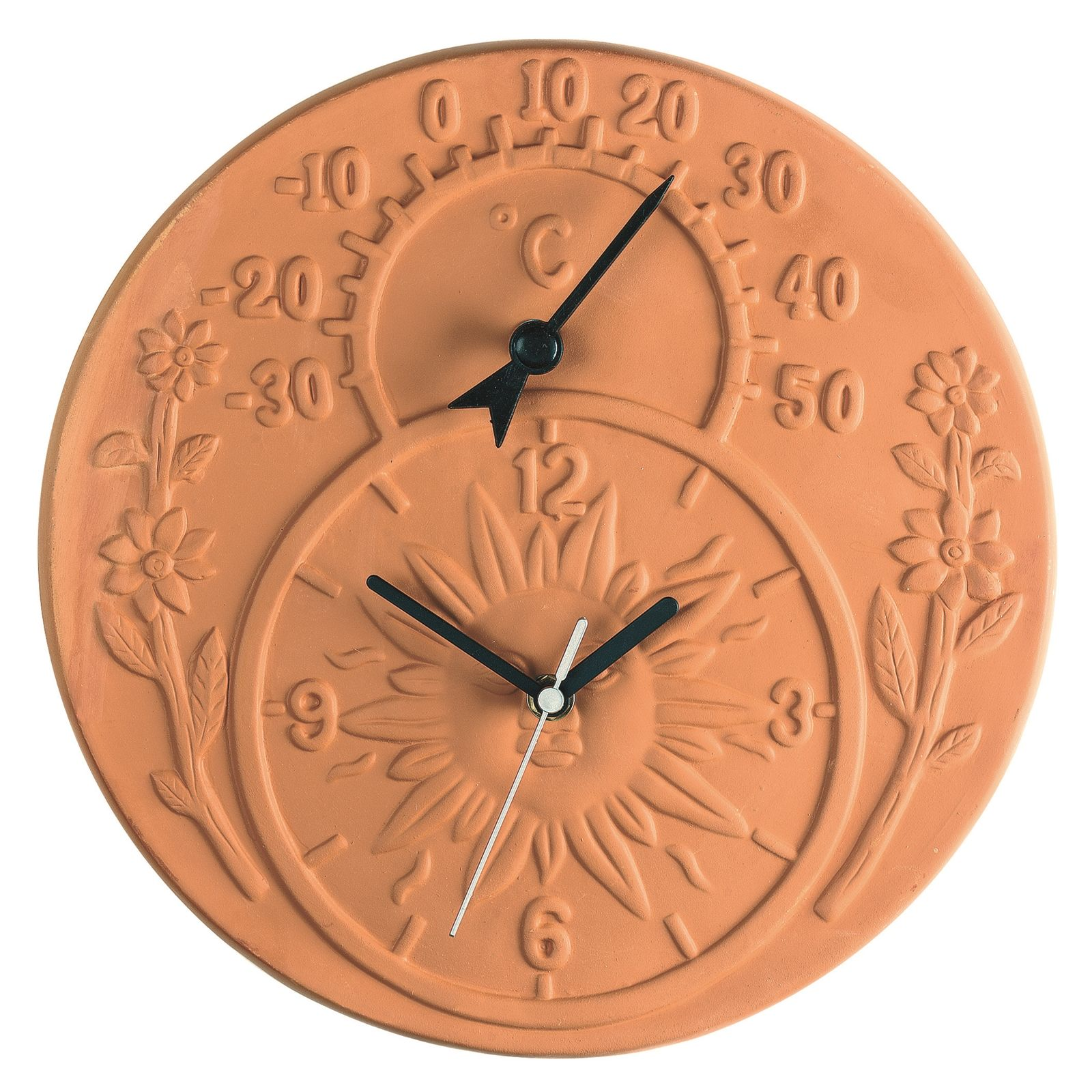 Find Gardman Terracotta Garden Clock And Thermometer at Bunnings ...