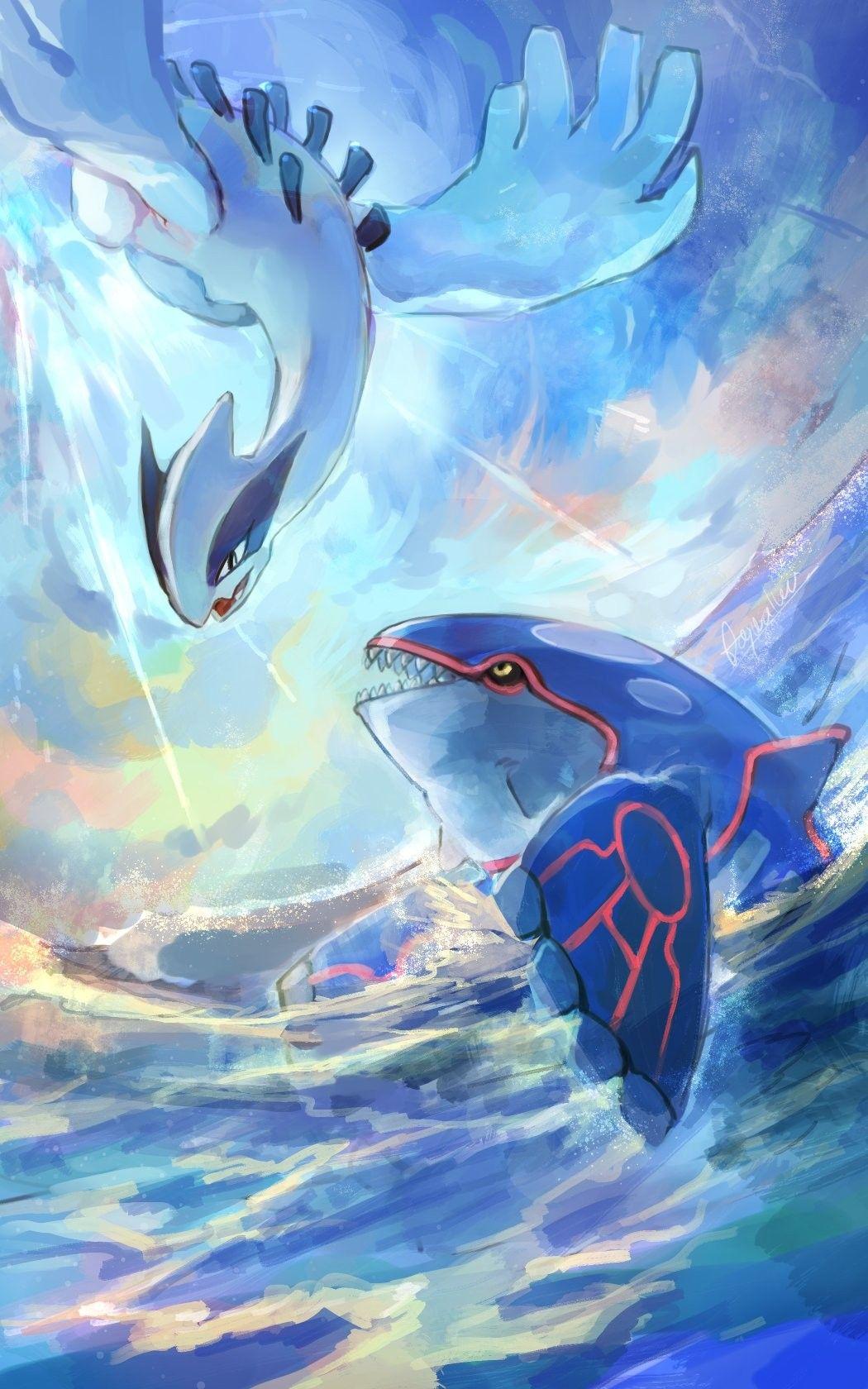 Lugia And Kyogre Pokemon Pokemon Pokemon Lugia Pokemon Eevee