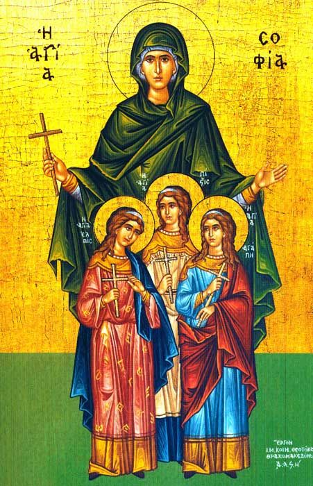 Eastern Saint of the Day: The Holy Martyr Sophia (Wisdom ...