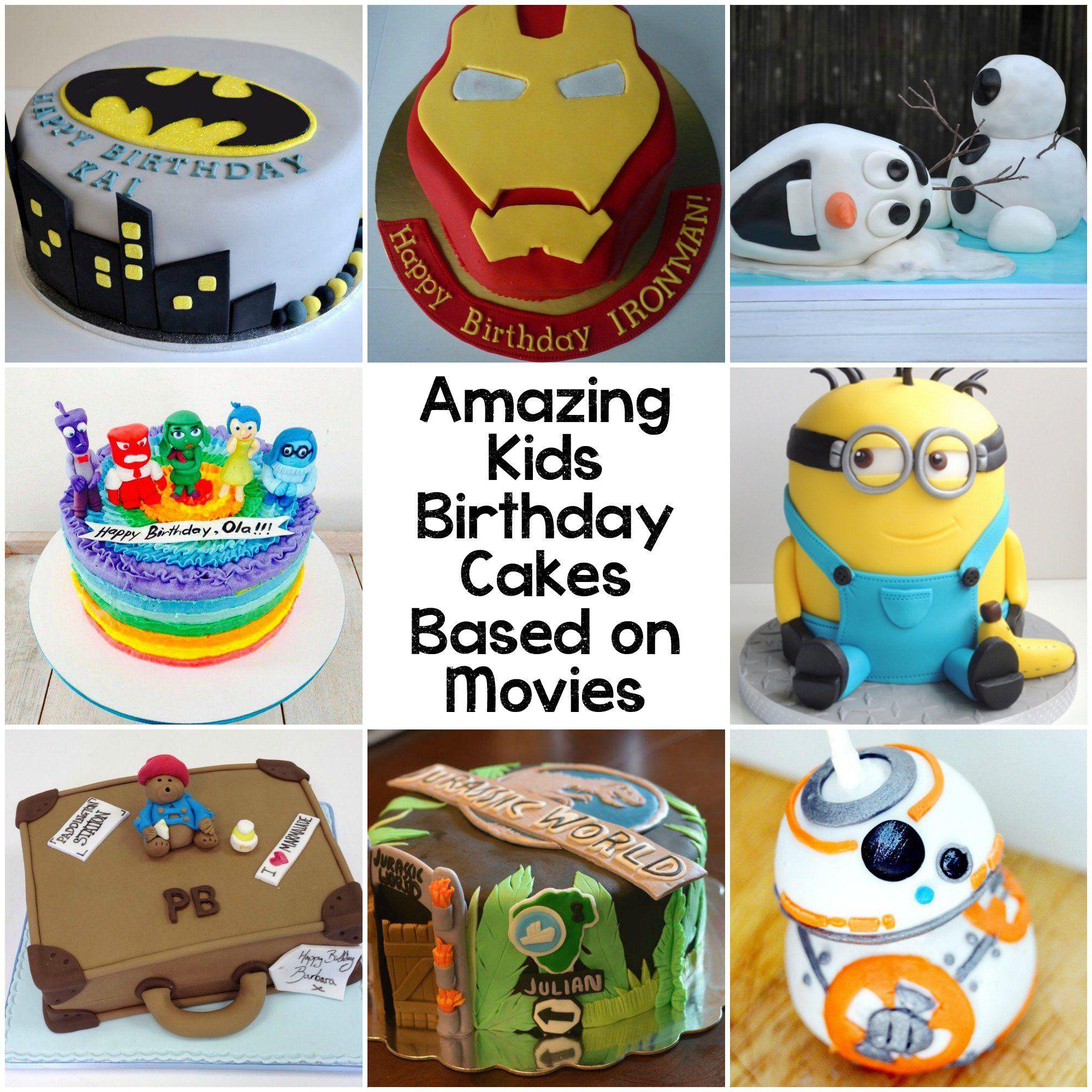 10 Amazing Kids Birthday Cakes Based On Movies Cake Ideas I Like