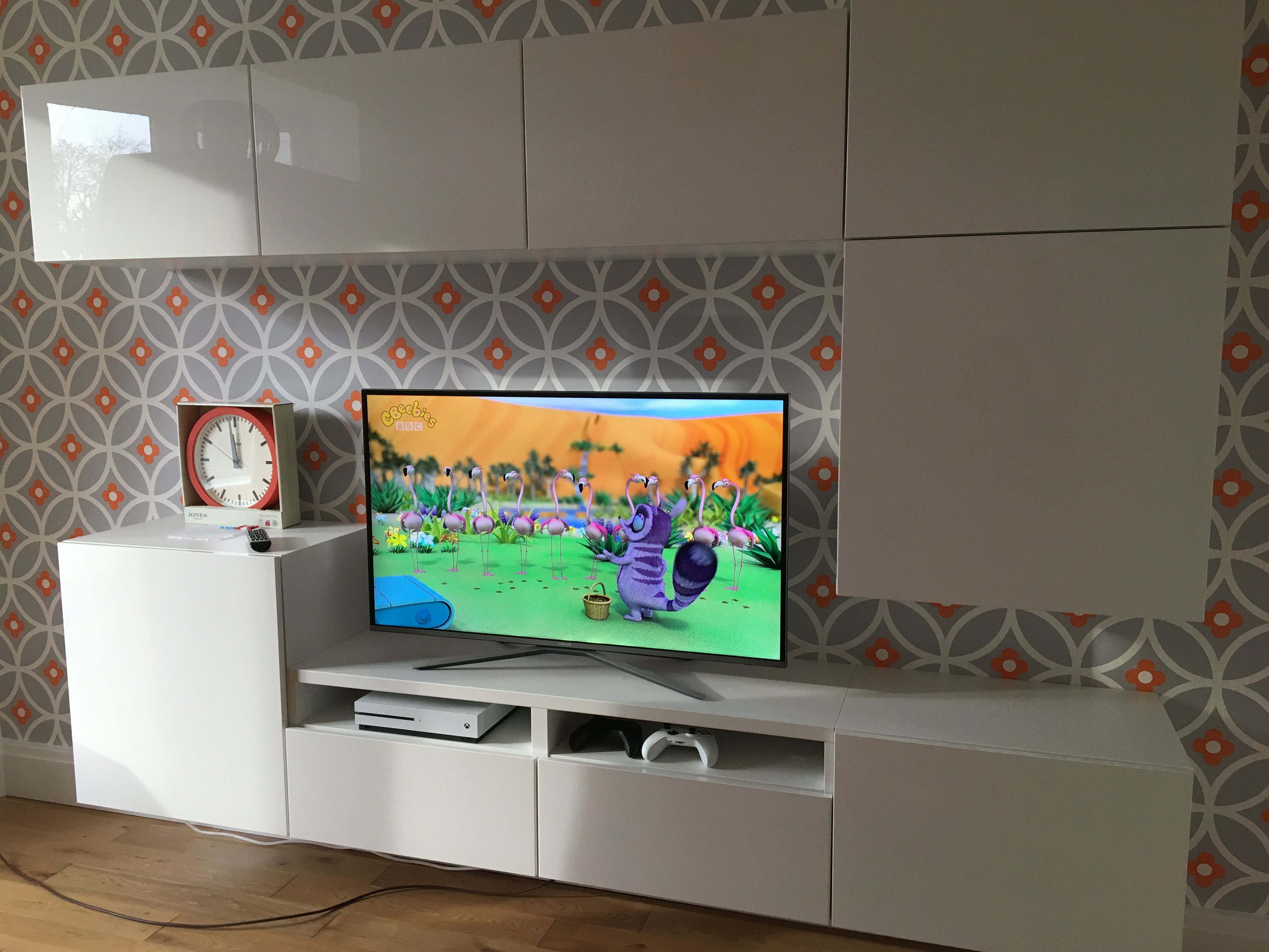 Playroom Ikea Besta Units & Layla Faye Wallpaper