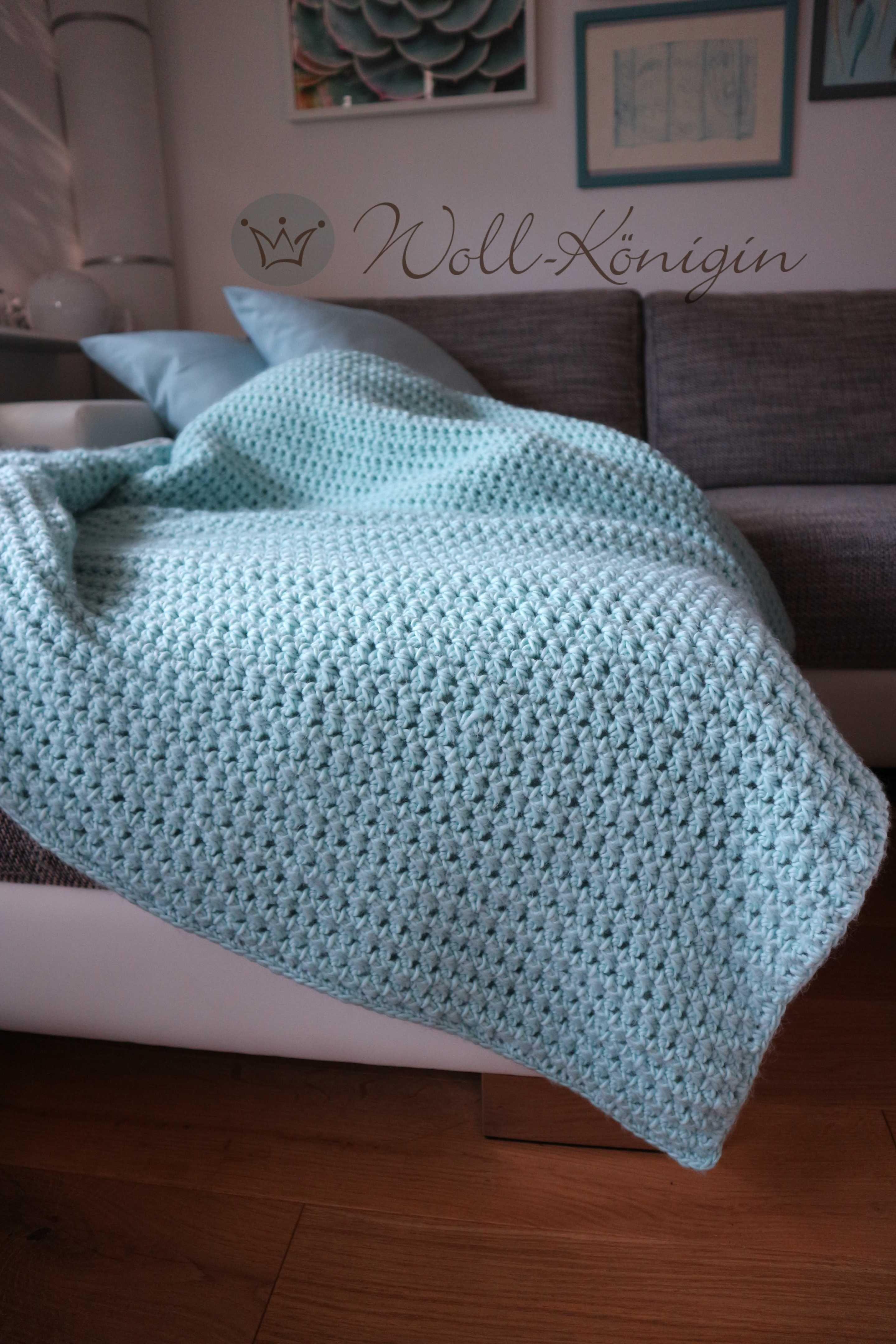 Decke gehäkelt Wolle von We are Knitters | Woll-Königin | Pinterest ...