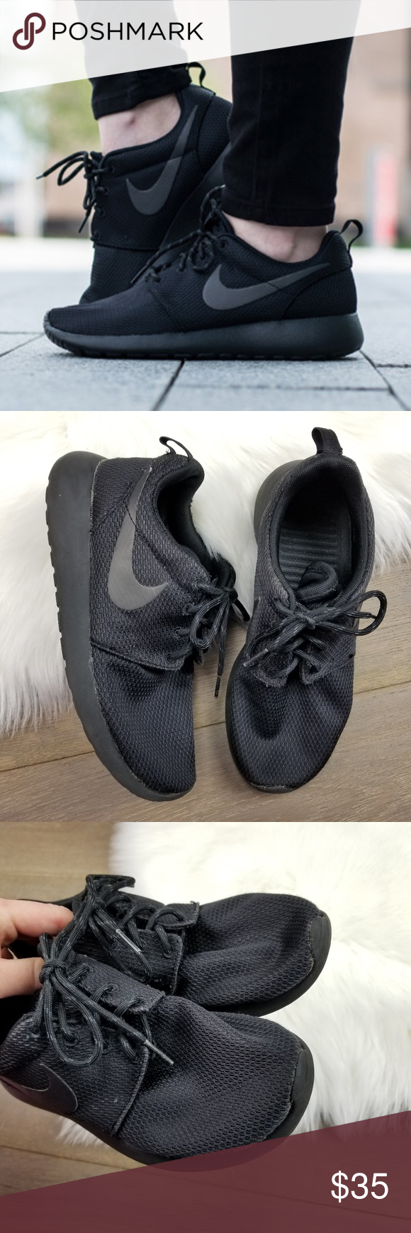 781958412c0a Nike Roshe One All Black Size 6 Women Pre owned still in good condition  Nike Shoes