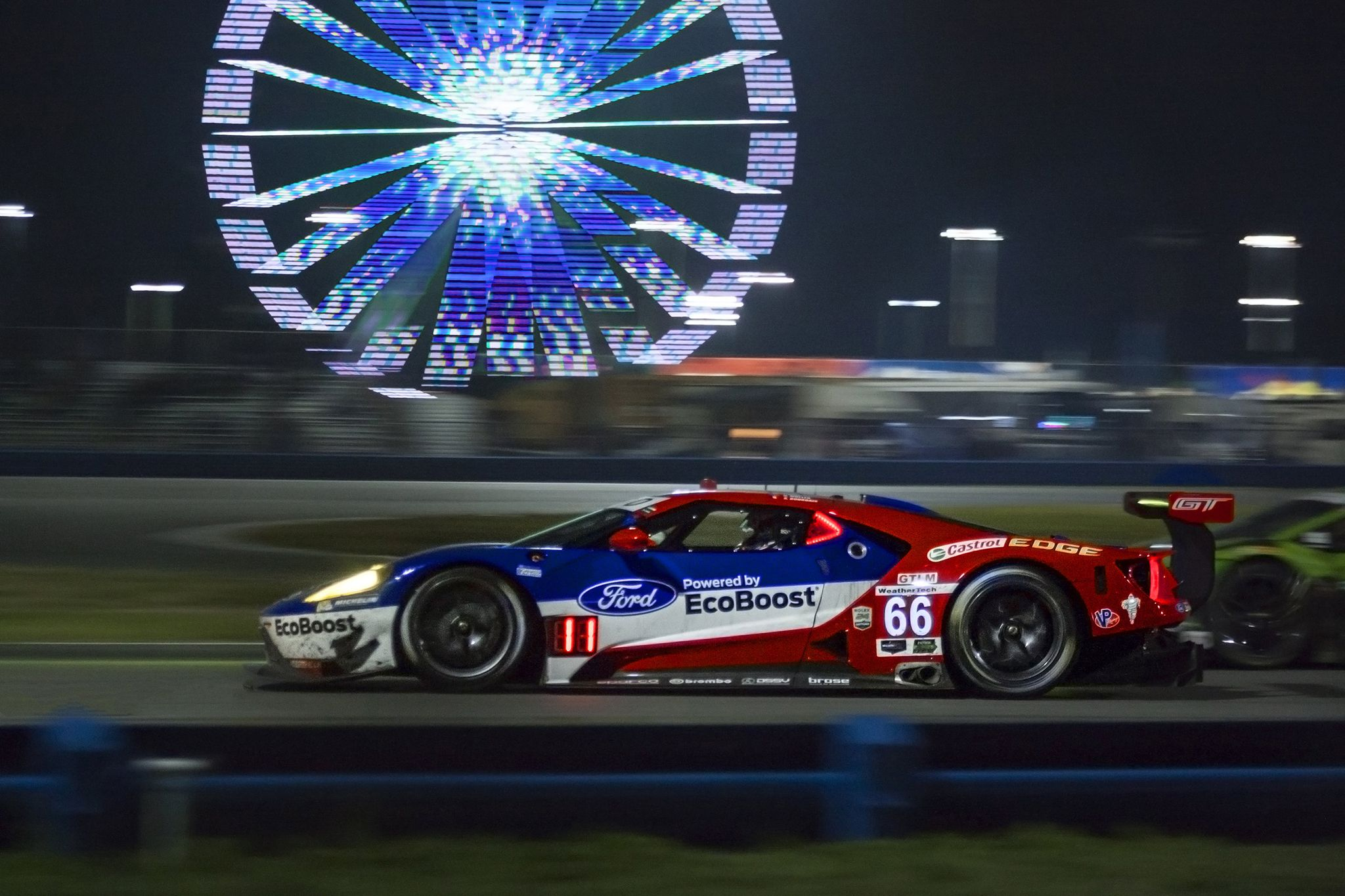 Ford GTLM under the lights at the Daytona 24 hrs Daytona