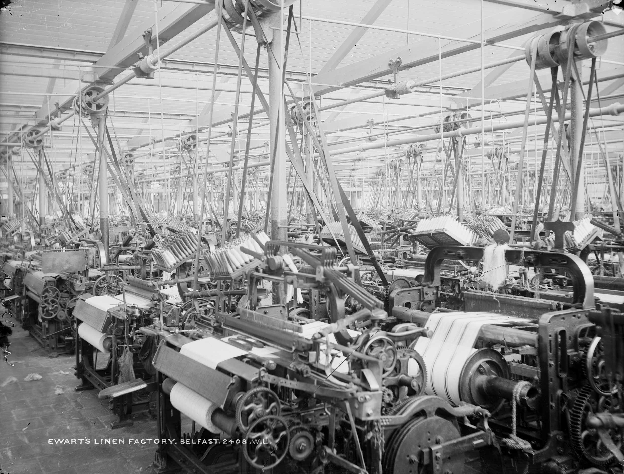 ThrowbackThursday Ewart's Linen Factory, Belfast 1897 #TBT   Natural