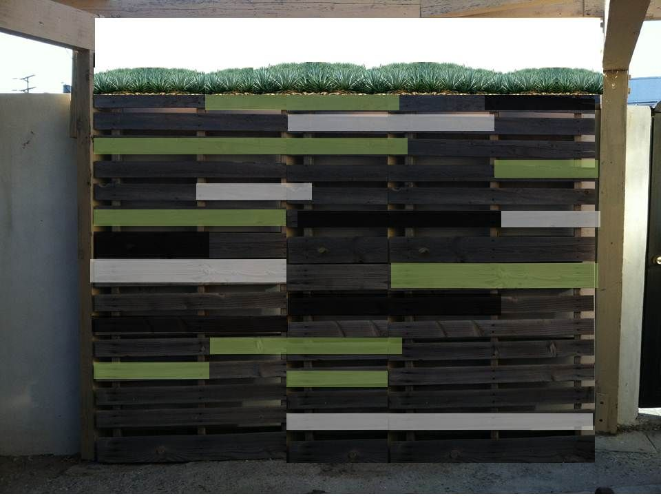 Creating an Outdoor Feature Wall Using Old Pallets-- A ...