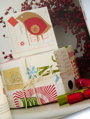 """Patchwork wrap and card from """"Christmas Crafting In No Time"""" , by Clare Young"""