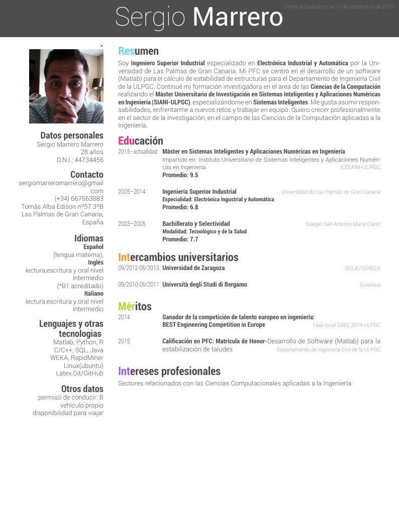 CV Overleaf Computacion, Educacion
