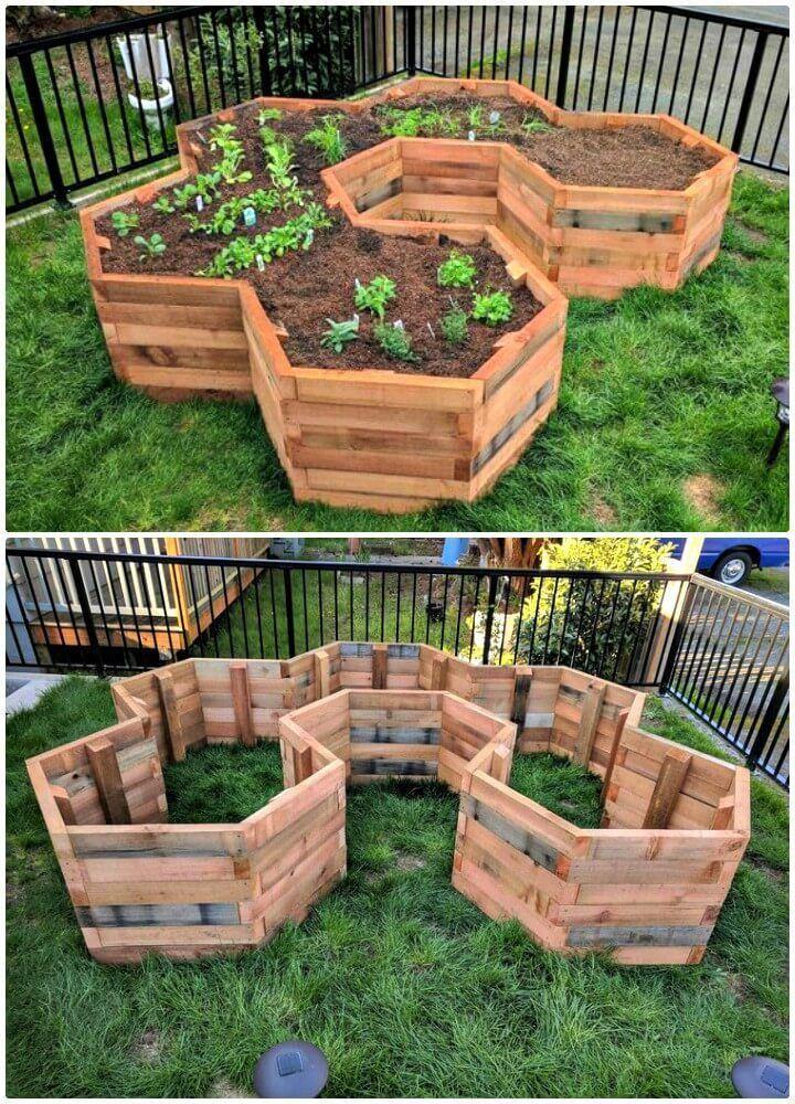 Make Your Own Hexagonal Garden Beds Diy Garden Projects 101 Diy Ideas To Upgrade Your Garden Diy Craf Gartenprojekte Diy Gartenprojekte Garten Hochbeet