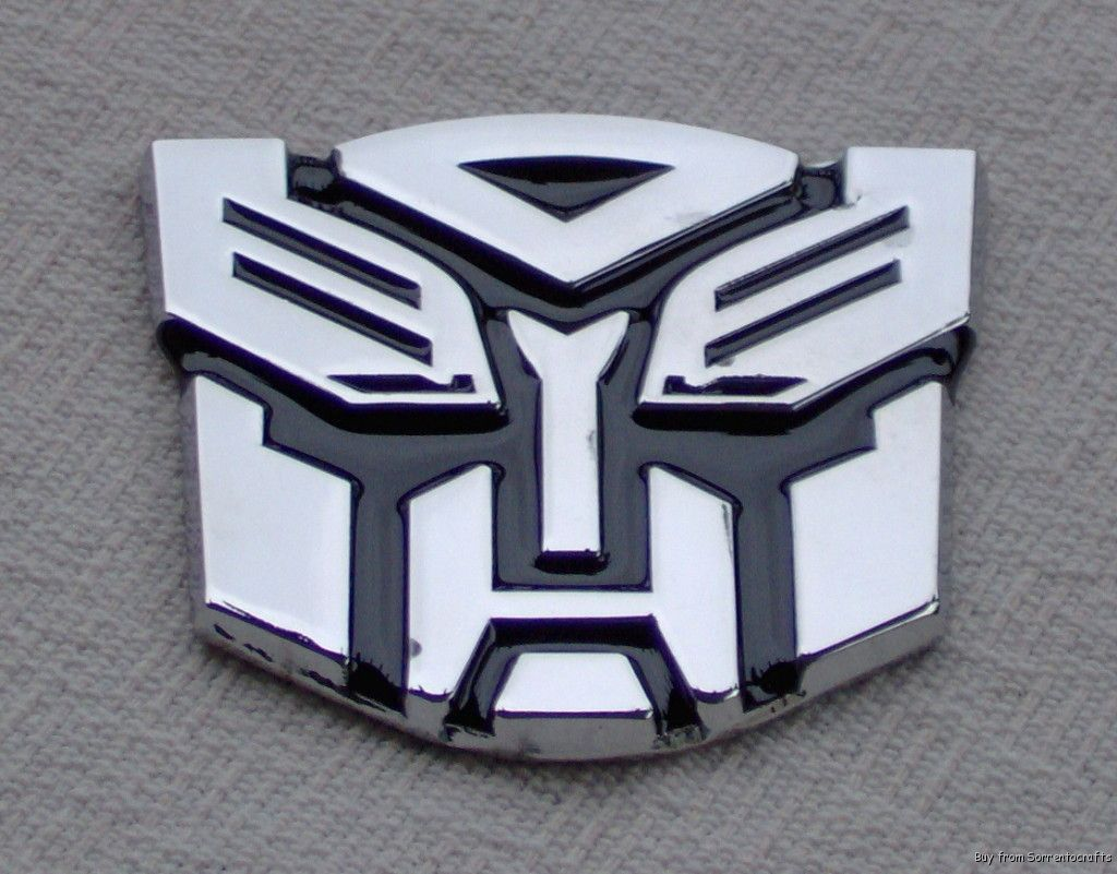 Real Metal 3d Transformer Car Emblem Autobot Decal Bk Movie Room