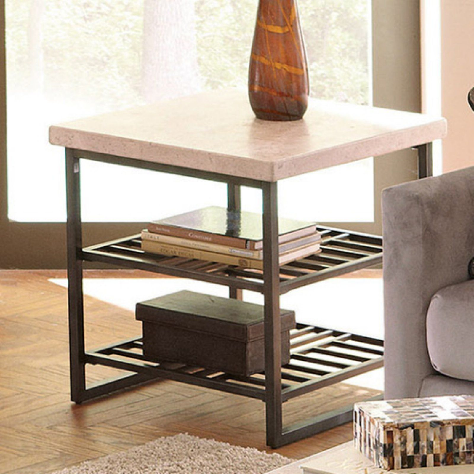 Riverside Capri End Table Alabaster Travertine In 2019 End Tables Table Riverside Furniture