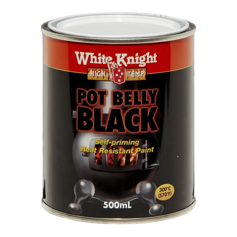 White Knight High Temp 500ml Pot Belly Black Heat Resistant