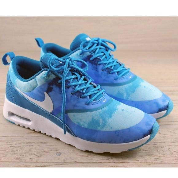 cheap for discount 94b0b af8a3 Nike Air Max Thea Print NIB no lid. Size 7.5 women.    This style runs 0.5  size small.    Color  Light Blue Lacquer White Clearwater. Price is not  firm.