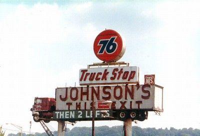 Old 76 Truckstop Big Trucks Old Trucks Big Rig Trucks