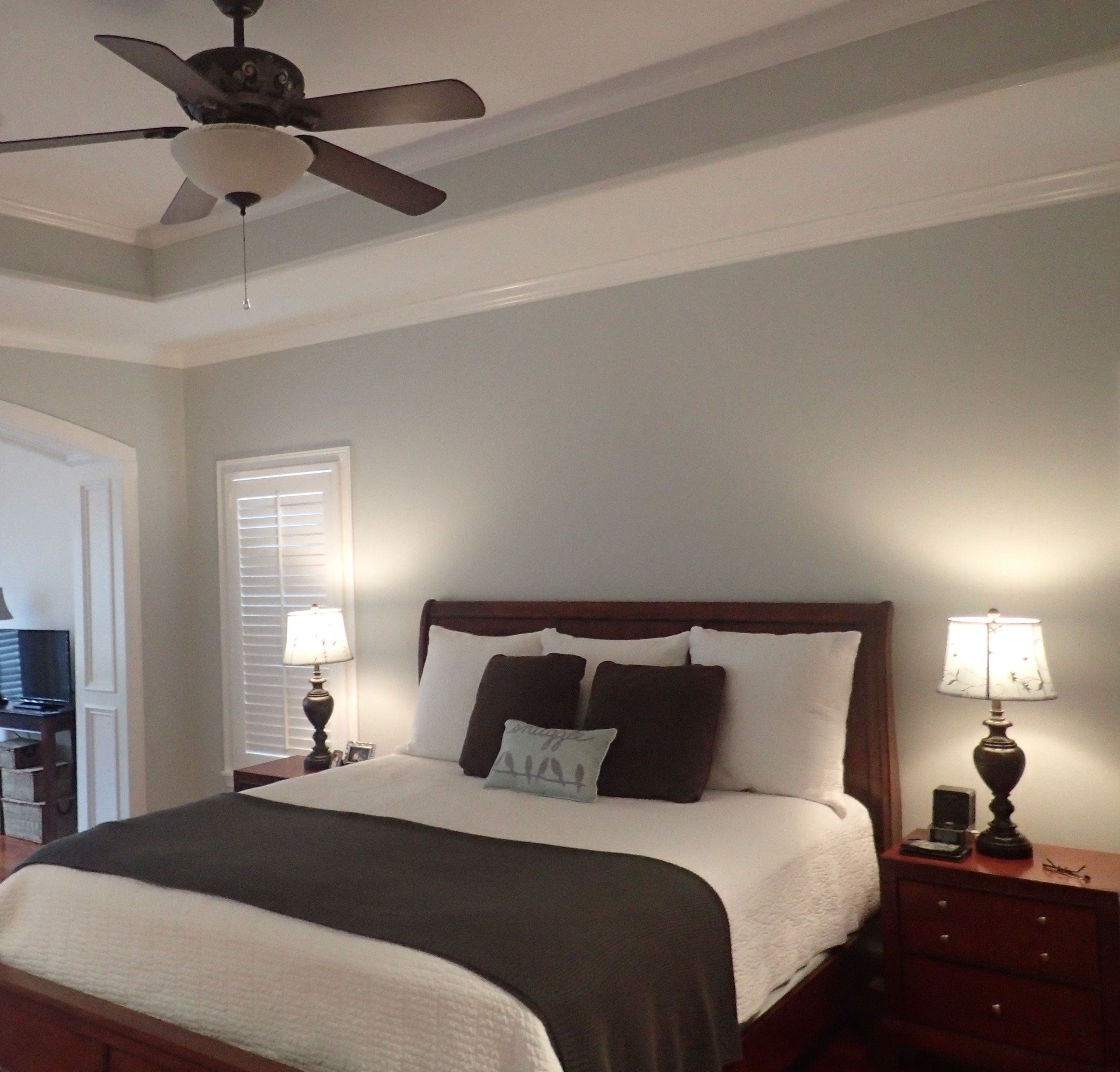 Master bedroom -- Sherwin Williams Silverpointe | Gray ...
