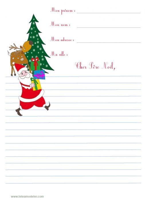 Une Lettre De Pere Noel.Papier A Lettre Du Pere Noel Bonhomme De Neige Gratuit