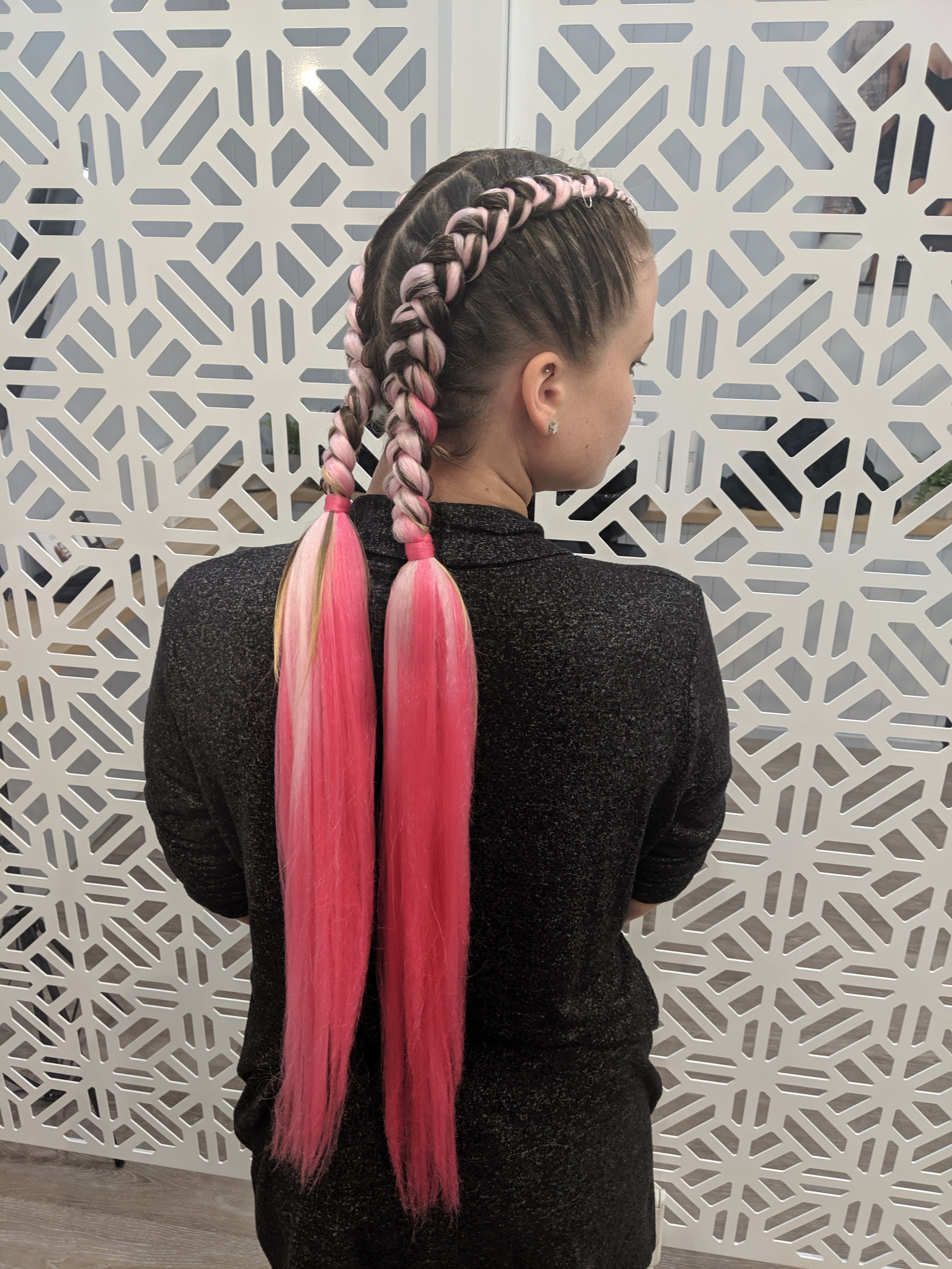 37++ Pink braid in extensions trends