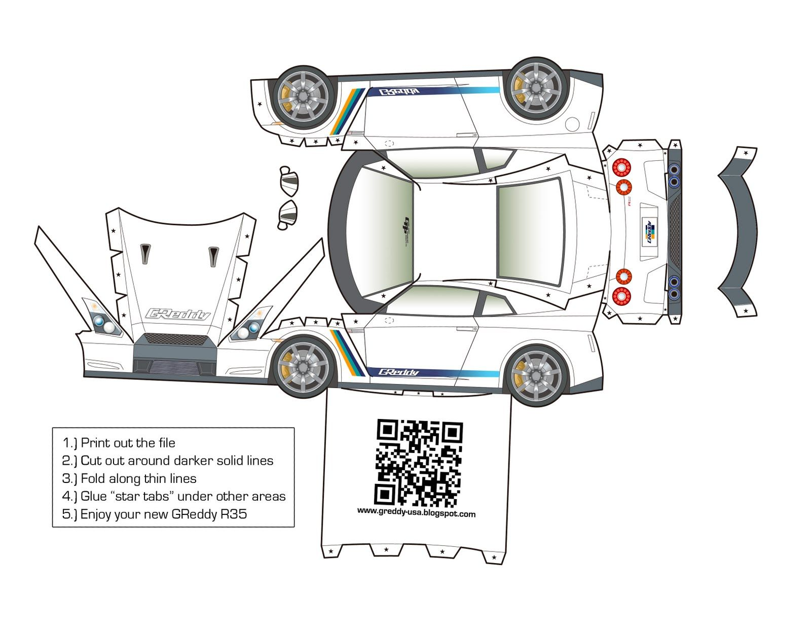 Papercraft Cars En