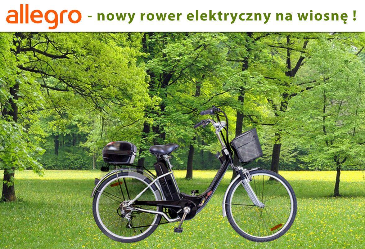 Rower Elektryczny 26 250w 36v 2018 Zielony 7700810312 Oficjalne Archiwum Allegro Electric Bike Bicycles New Electric Bike Electric Bicycle
