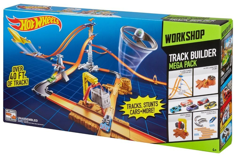 Hot Wheels Track Builder System Mega Set New Mattel Hot Wheels
