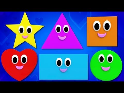 Shapes Song Nursery Rhymes Kids Songs Baby Rhymes Youtube Shapes For Kids Kids Nursery Rhymes Learning Shapes