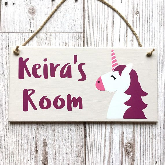 Unicorn Personalised Door Sign Kids Door Hanger Children S Bedroom Plaque Kids Personalised Plaque Kids Name Plaque Kids Room Sign Door Signs Diy Kids Door Signs Bedroom Door Signs