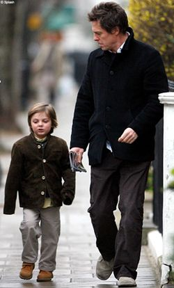 Hugh Grant And Damian Hurley Son Of Elizabeth Hurley Walk
