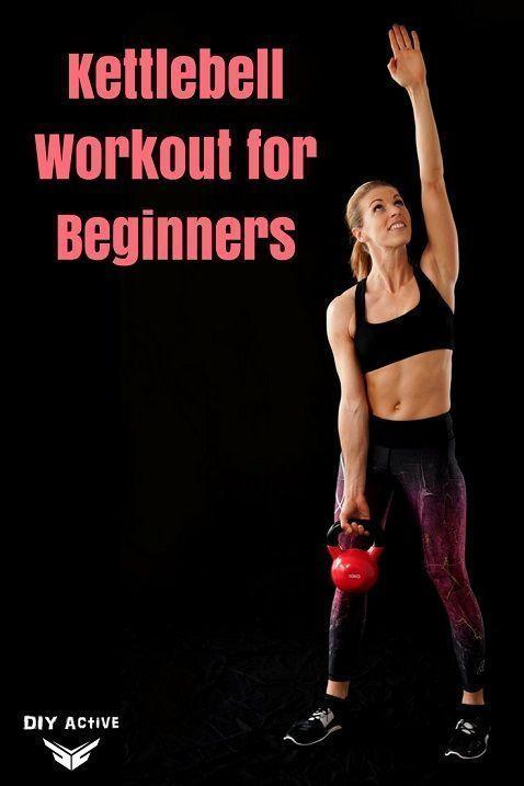 Kettlebell Workouts for Beginners - @DIYActiveHQ #weightlossworkouts #kettlebell #fitness