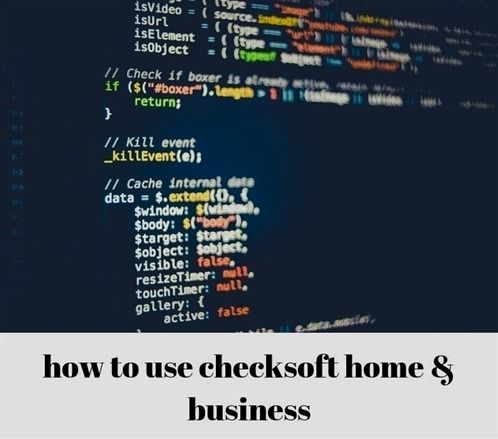 how to use checksoft #home business_696_20180912110950_49 tax