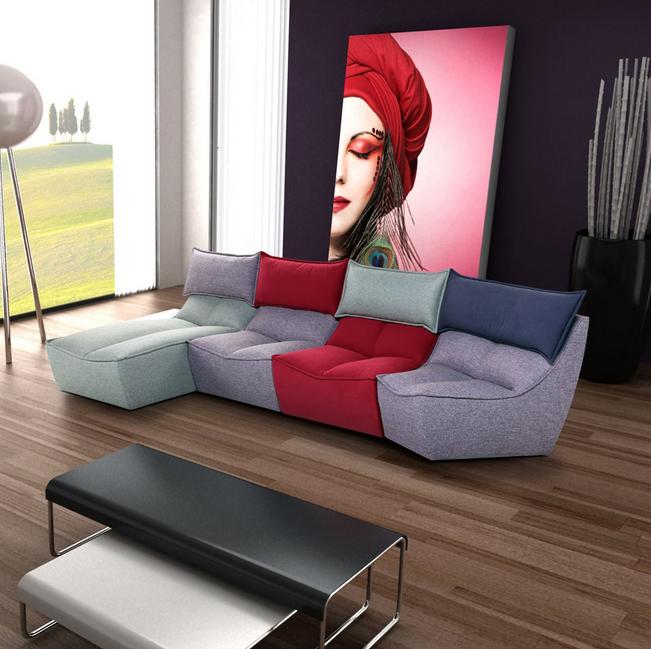 Bunte Sofas hopping bunte sofas mit weichen materialien wohnzimmer
