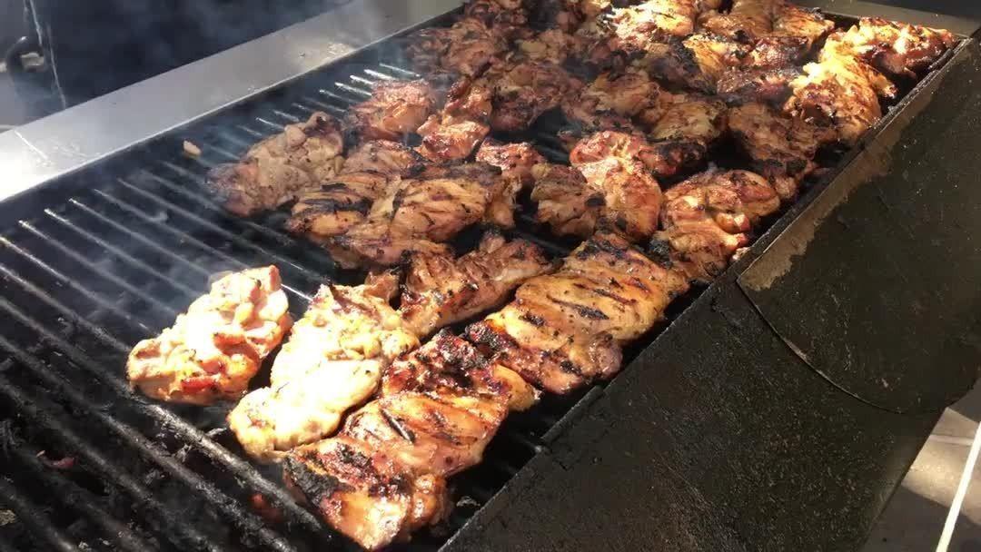 Grilled Huli Huli Chicken From Patricks Hawaiian Cafe Food Truck In