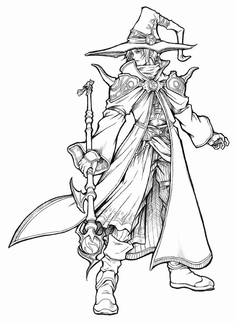 Grim Reaper Coloring Pictures In 2020 Black Mage Coloring Pages